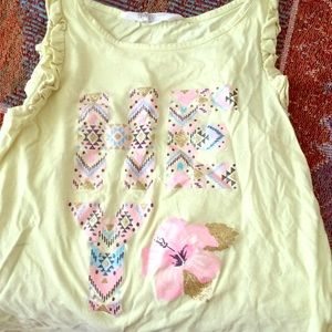 """Yellow """"HEY"""" H and M top"""